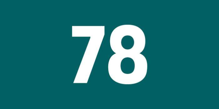Số 78 cũng là con số nhiều người tránh xa