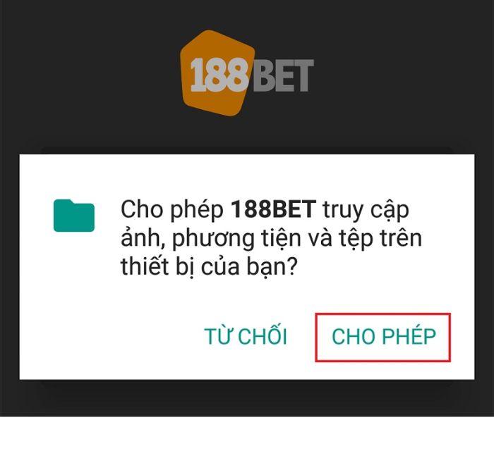 Tải phần mềm đánh lô đề 188bet trên hệ điều hành Android